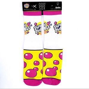 🆕 Odd Sox Super Bubble Bubblegum Crew Socks